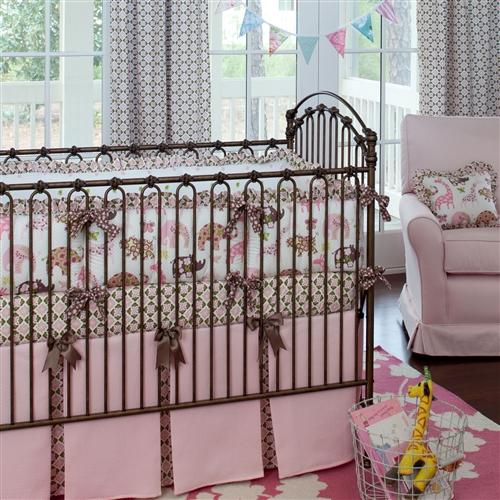 pink-animal-parade-crib-bedding