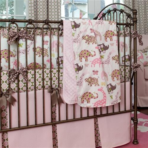 pink-animal-parade-crib-blanket